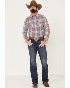Flag & Anthem Men's Rosburg Plaid Long Sleeve Western Shirt , Indigo, hi-res