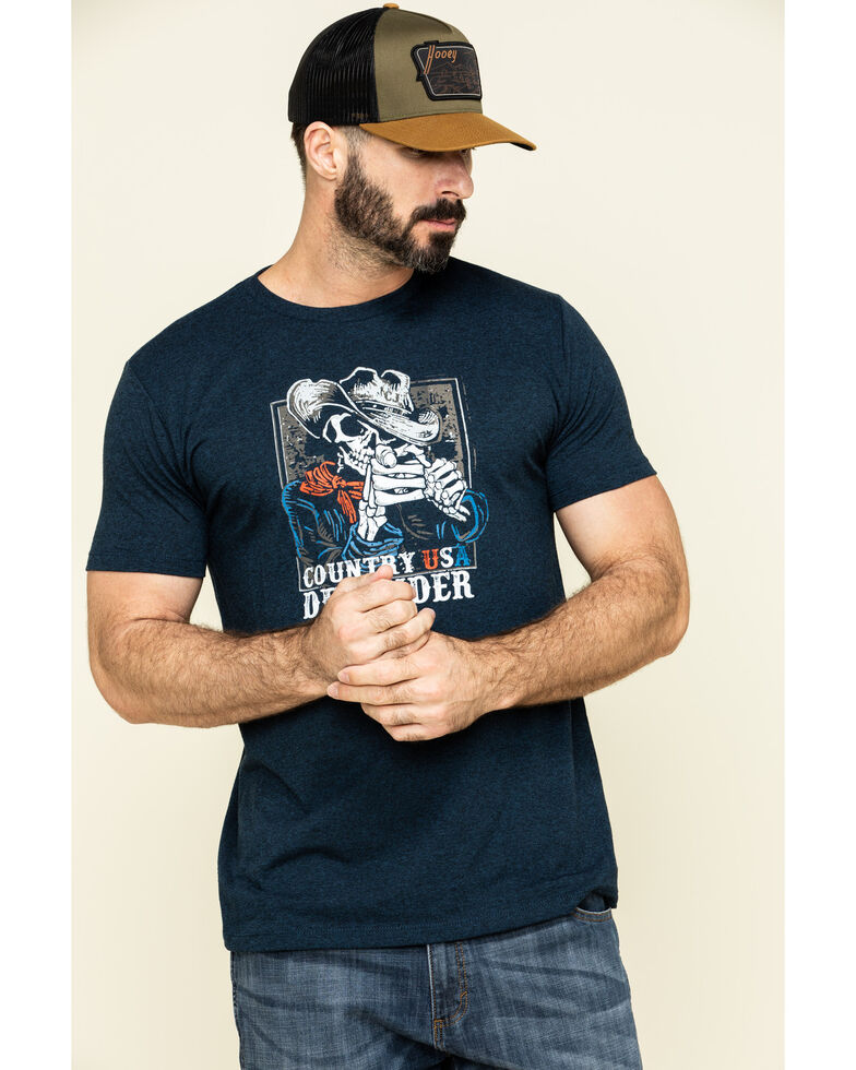 Cody James Men's Country USA Defender Graphic Short Sleeve T-Shirt , Blue, hi-res