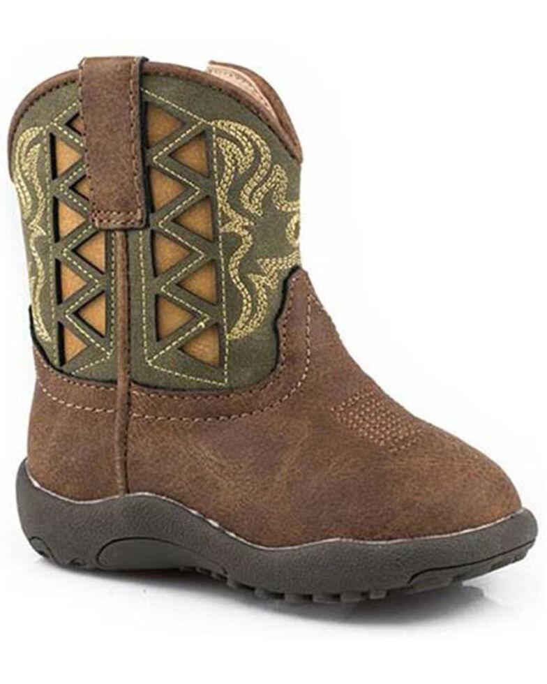 Roper Infant Girls' Cowbabies Askook Poppet Boots - Round Toe, Green, hi-res