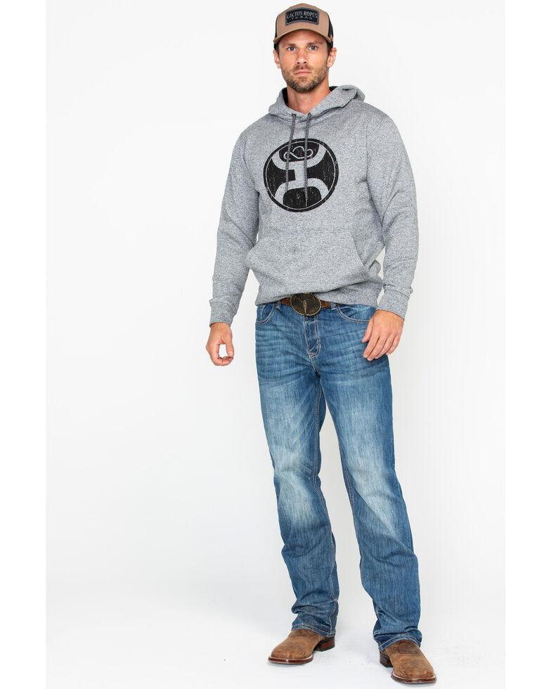 HOOey Men's Grey 2.0 Logo Hooded Sweatshirt, Heather Grey, hi-res