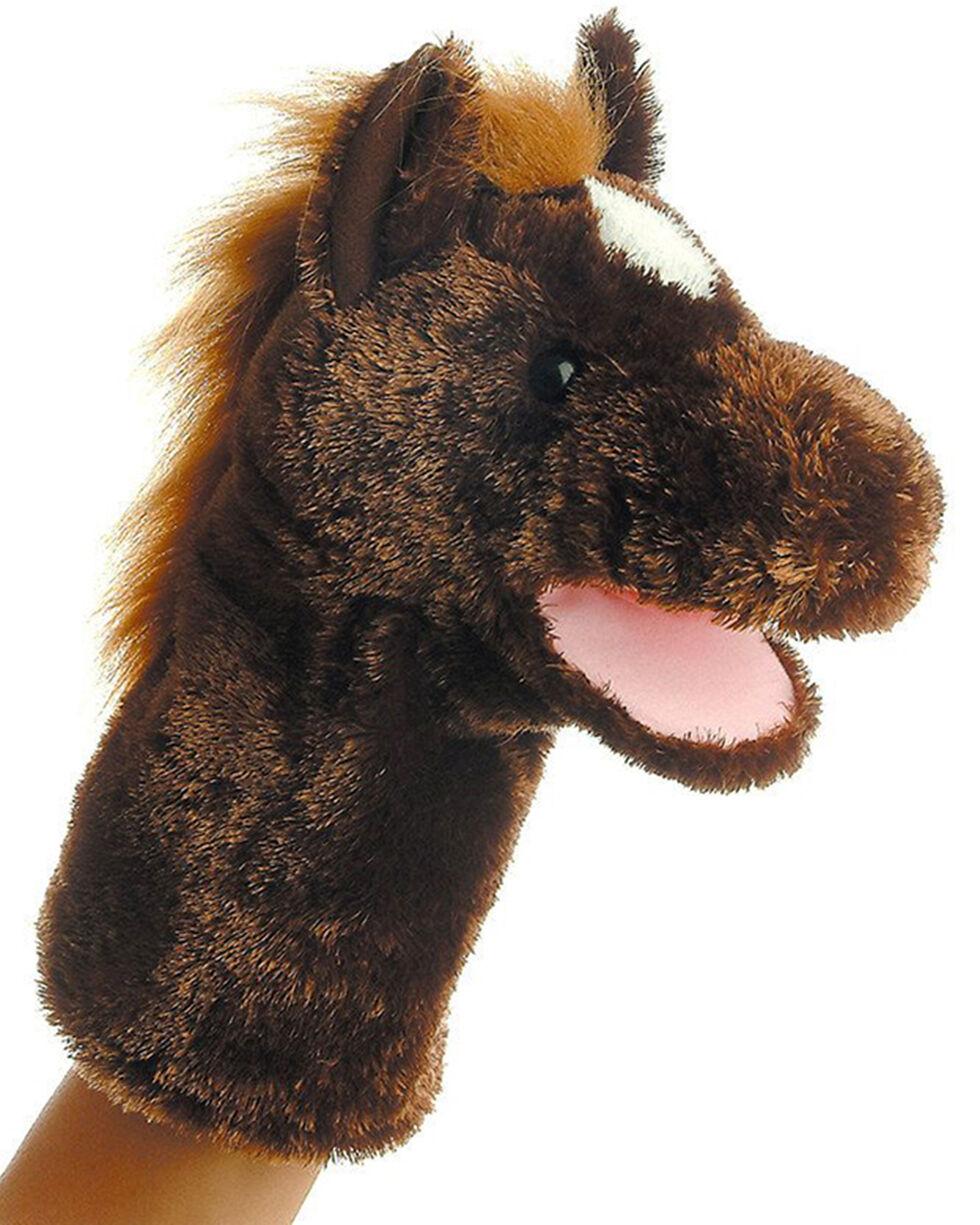 """Aurora 10"""" Lonestar Horse Puppet, Brown, hi-res"""