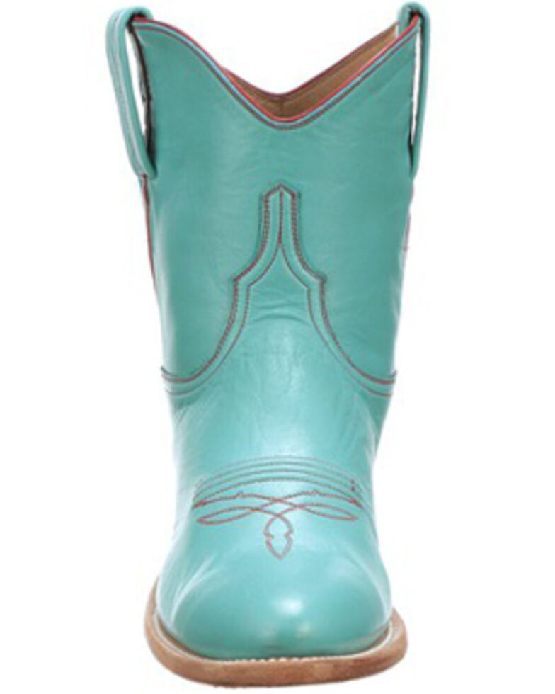 Lucchese Women's Gaby Western Booties - Round Toe, Turquoise, hi-res