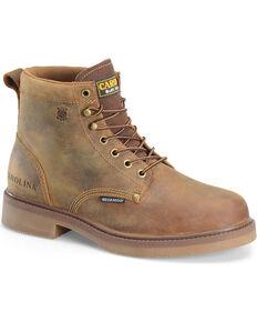 "Carolina Men's 6"" Smooth Sole Waterproof Work Boots, Brown, hi-res"