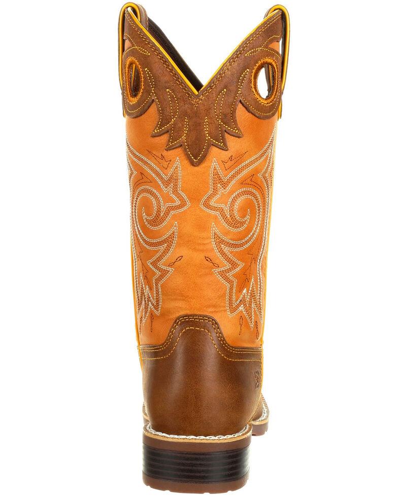 Durango Women's Mustang Western Saddle Boots - Square Toe, Tan, hi-res