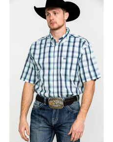 Cinch Men's Multi Large Plaid Button Short Sleeve Western Shirt  , Multi, hi-res
