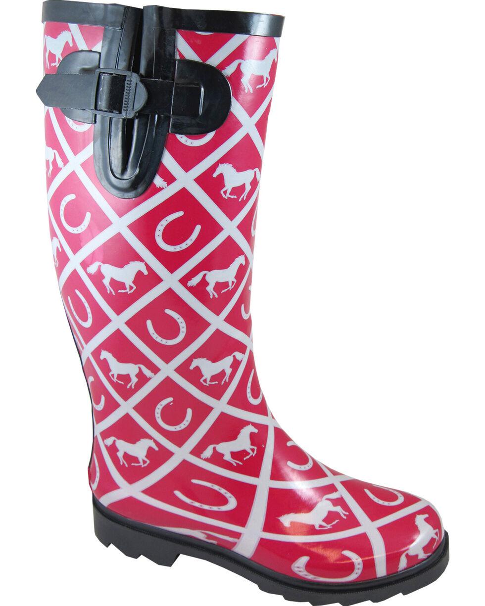 Smoky Mountain Women's Cheshire Waterproof Boots, Maroon, hi-res