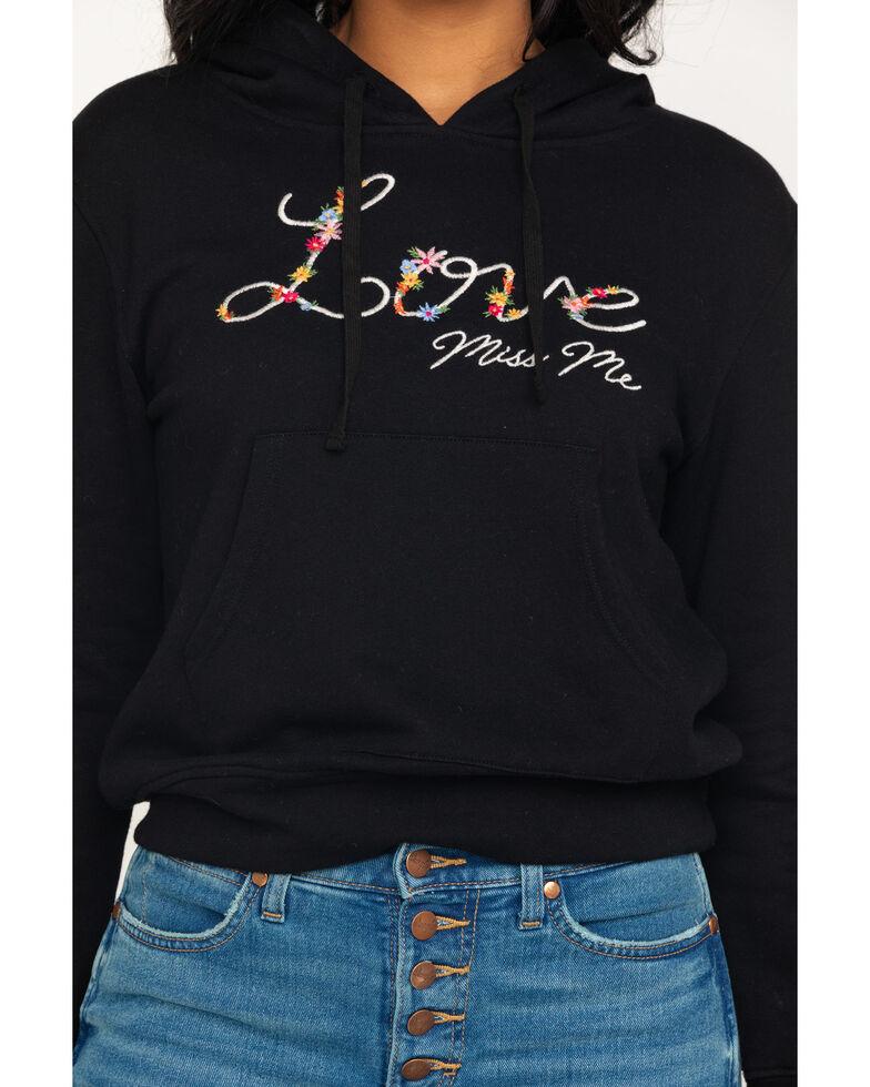 Miss Me Women's Love Hoodie, Black, hi-res