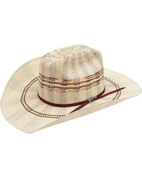 Twister Bangora 3-Tone Cattleman Straw Cowboy Hat, Multi, hi-res
