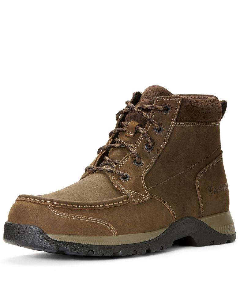 Ariat Men's Dark Edge Lace Boots - Moc Toe, Brown, hi-res