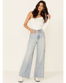 Wrangler Women's Heritage Worldwide Jeans, Blue, hi-res