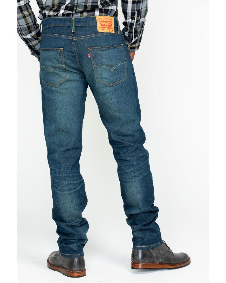 Levi's Men's 502 Rosefinch Regular Stretch Tapered Fit Jeans, Blue, hi-res