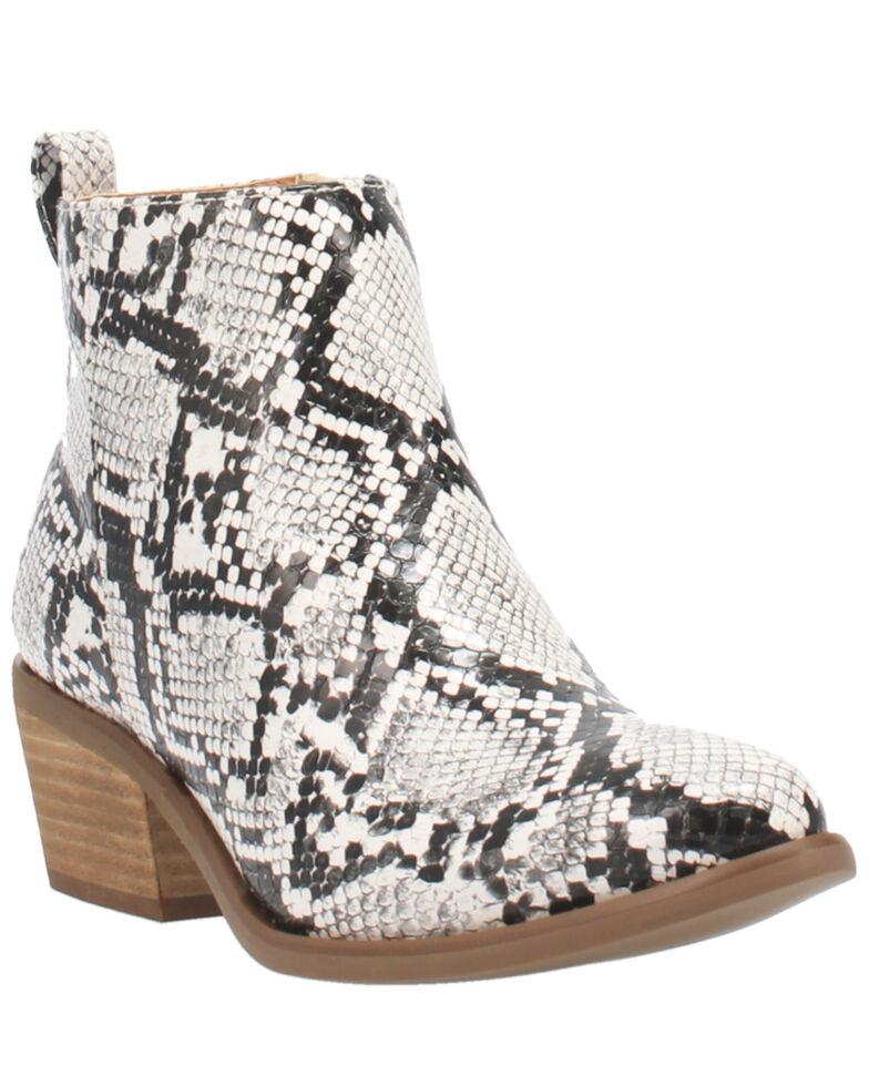 Code West Women's VooDoo Fashion Booties - Round Toe, White, hi-res