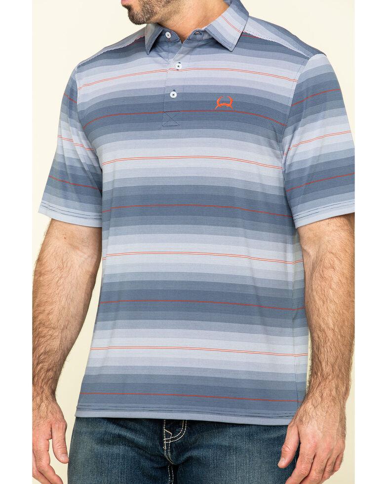 Cinch Men's Multi Striped Button Short Sleeve Polo Shirt , Multi, hi-res