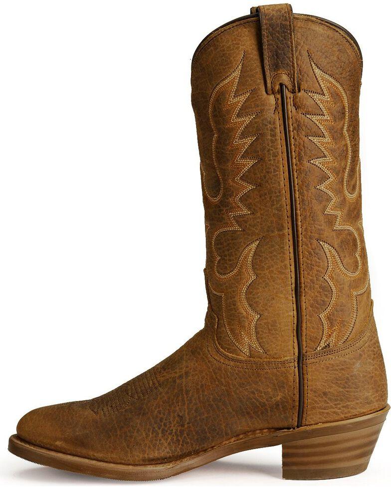 Abilene Men's Bison Leather Cowboy Boots - Medium Toe, Tan, hi-res