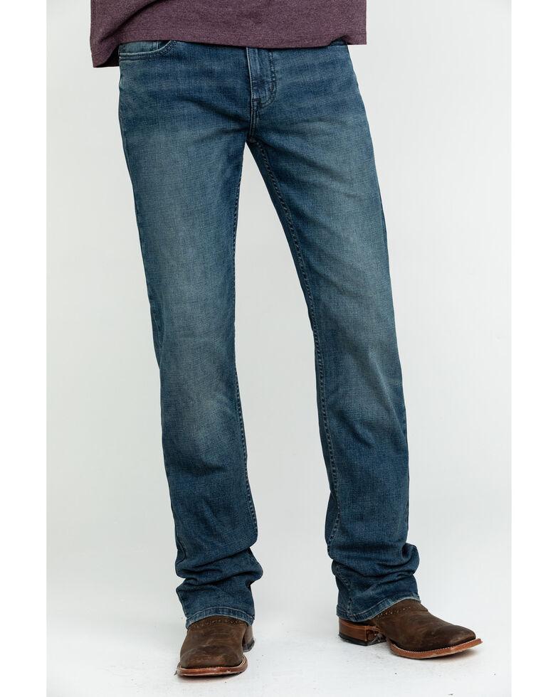Moonshine Spirit Men's Muddler Slim Bootcut Jeans , Indigo, hi-res