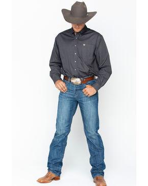 Cinch Men's Woven Long Sleeve Western Shirt , Grey, hi-res