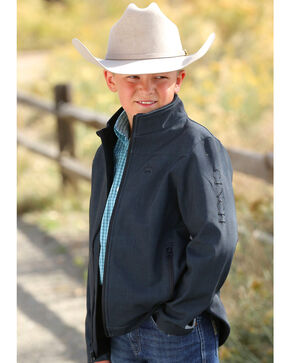 Cinch Boys' Textured Bonded Jacket, Black, hi-res