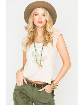 White Crow Women's Cactus Vista Top , Oatmeal, hi-res