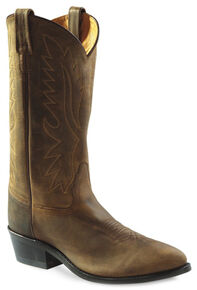Old West Men's Distressed Polanil Western Cowboy Boots - Medium Toe, Distressed, hi-res