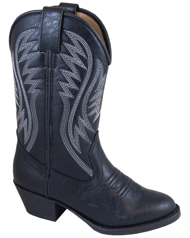 Smoky Mountain Youth Girls' Mesquite Western Boots - Round Toe, Black, hi-res