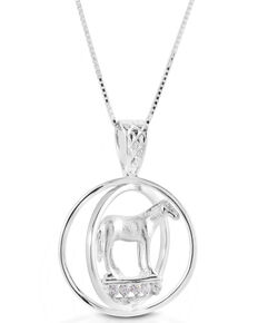 Kelly Herd Women's Small World Trophy Necklace , Silver, hi-res