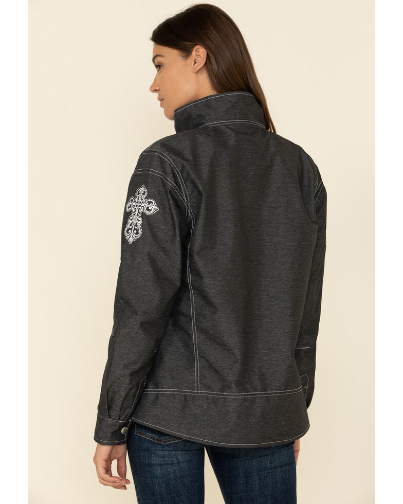Cowgirl Hardware Women's Charcoal Tech Woodsman Arrow Jacket, Charcoal, hi-res