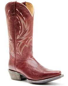 Shyanne Women's Ruby Western Boots - Square Toe, Red, hi-res