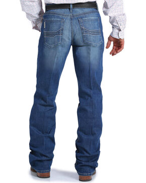 Cinch Men's Grant Medium Stonewash Relaxed Fit Jeans - Boot Cut, Indigo, hi-res