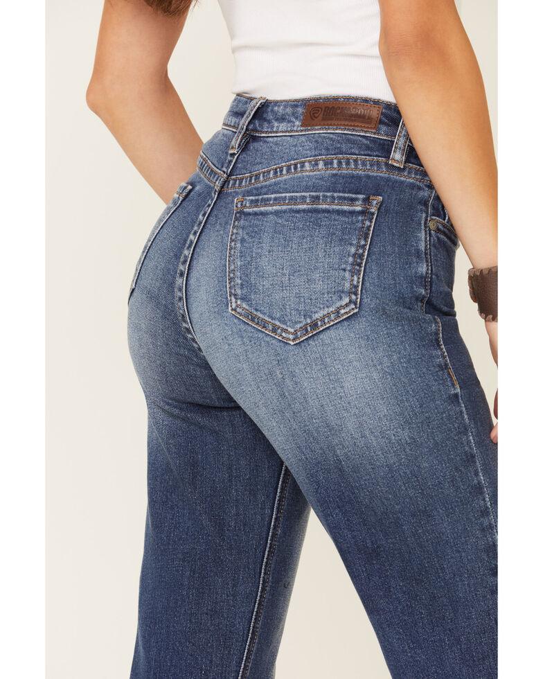Rock & Roll Denim Women's Cropped Straight Leg Jeans, Blue, hi-res