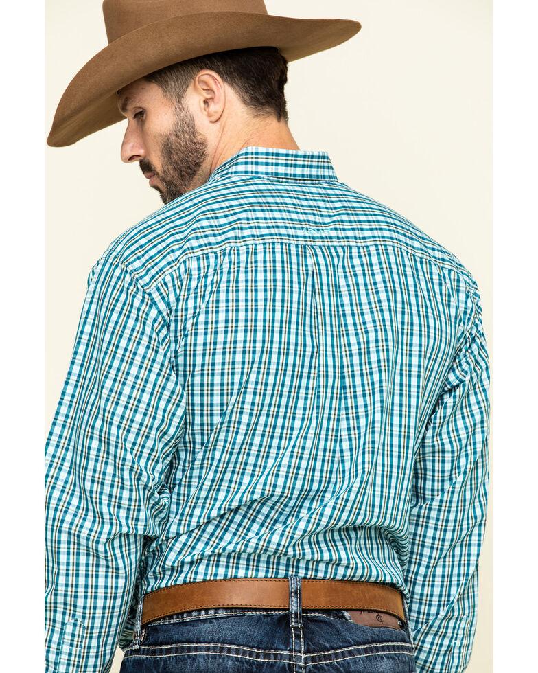Ariat Men's Wrinkle Free Verdon Small Plaid Long Sleeve Western Shirt - Tall, Multi, hi-res
