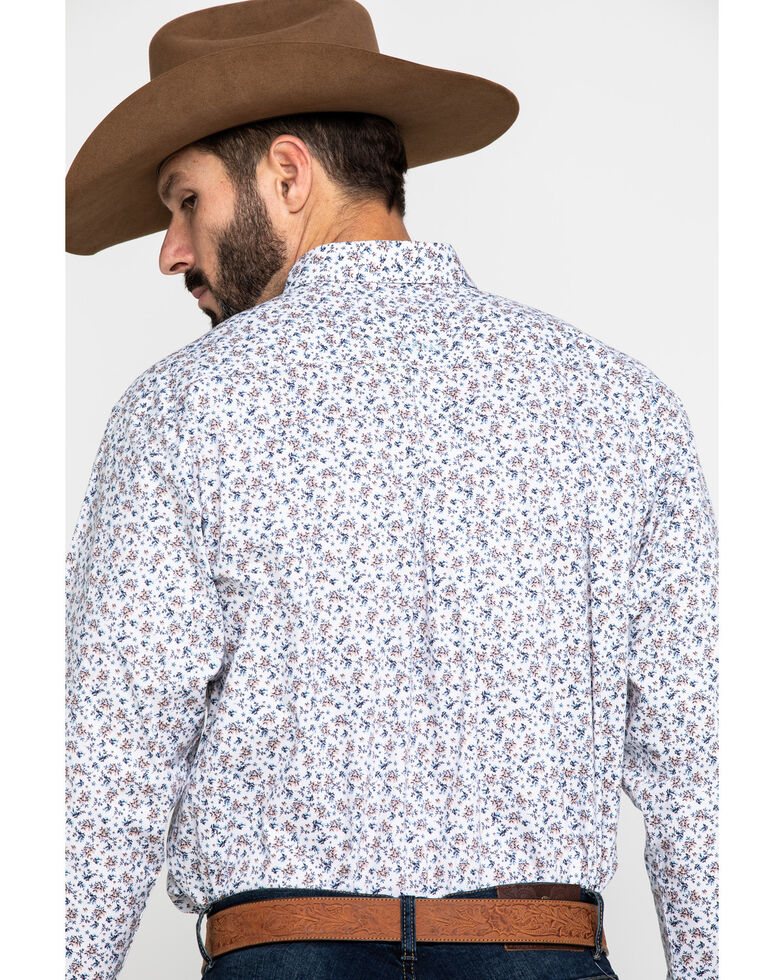 Ariat Men's Lafayette Floral Geo Print Long Sleeve Western Shirt - Tall , White, hi-res