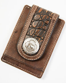 Cody James Men's Praying Cowboy Croc Money Clip, Brown, hi-res