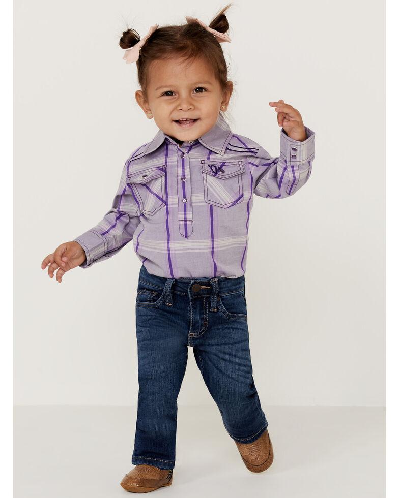 Wrangler Infant/Toddler Girls' Western 5 Pocket Jeans - Skinny, Blue, hi-res