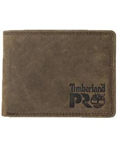 Timberland Pro Men's Leather RFID Flip Pocket Wallet, Dark Brown, hi-res