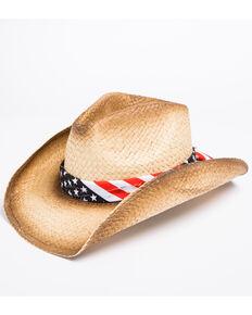 Cody James Men's Stars & Stripes Cowboy Hat, Tan, hi-res