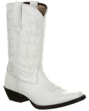 Durango Women's Porcelain Western Boots - Narrow Square Toe, White, hi-res