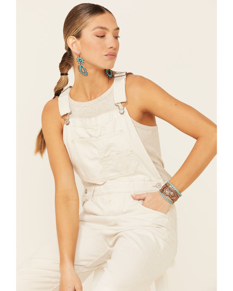 Free People Women's Ziggy Denim Overalls, Blue, hi-res