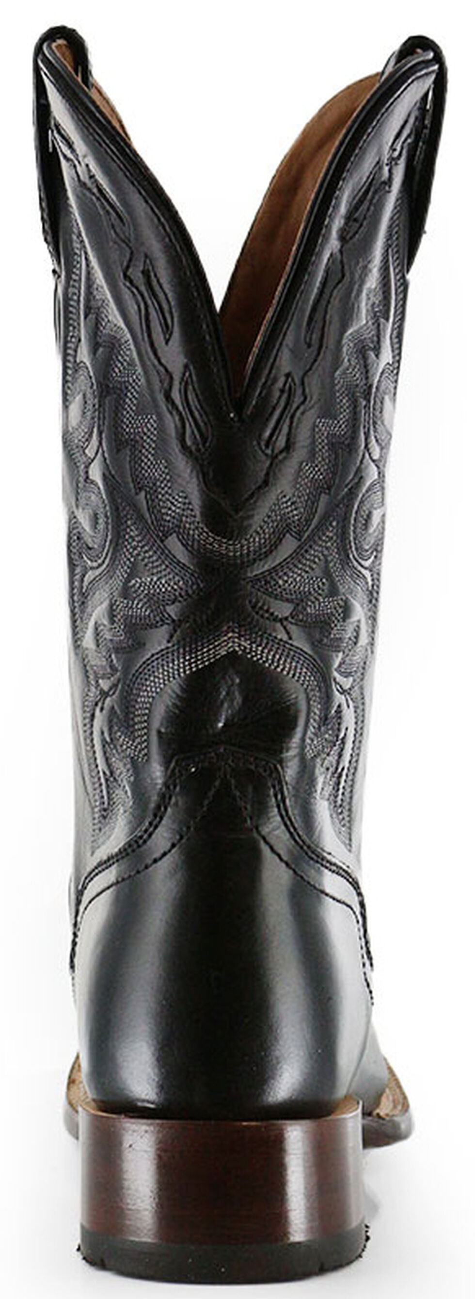 El Dorado Handmade Black Vanquished Calf Cowboy Boots - Square Toe, Black, hi-res