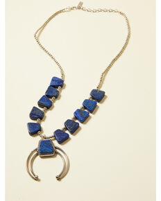Cowgirl Confetti Women's Long Time Love Necklace, Blue, hi-res
