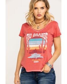 2314103e Panhandle Women's White Label Rio Grande Desert Graphic Knit Top