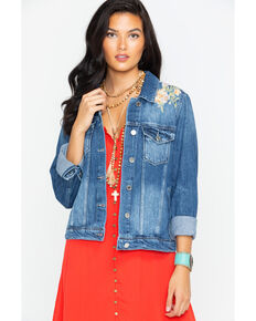 Miss Me Women's Indigo Spring Street Denim Jacket , Indigo, hi-res