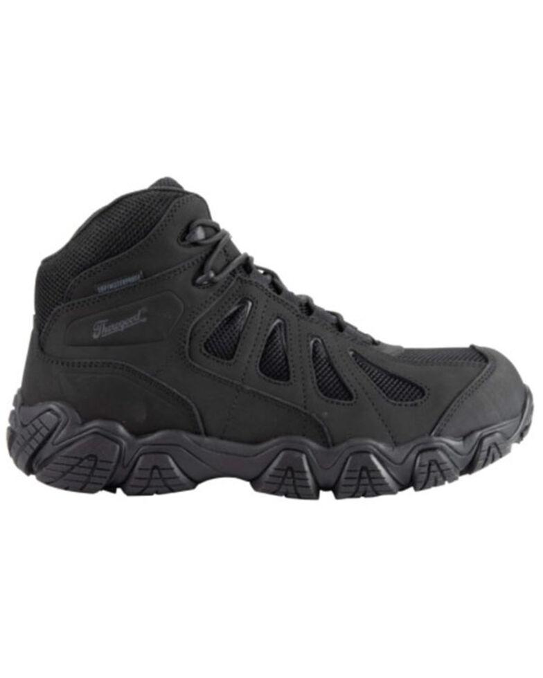 Thorogood Men's Black Crosstrex Waterproof Work Boot - Soft Toe, Black, hi-res