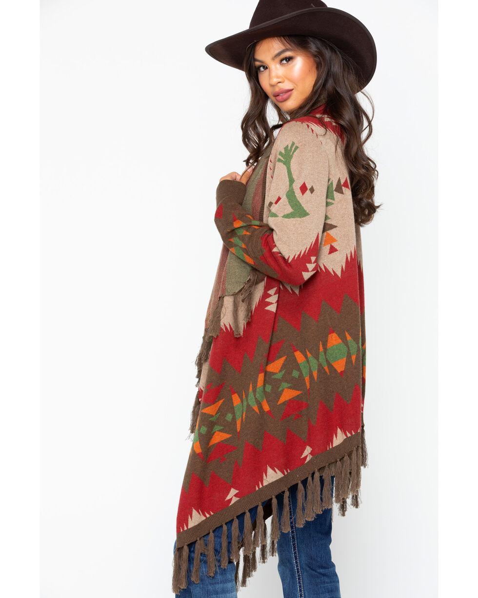 Tasha Polizzi Women's Cheyenne Cardigan, Wine, hi-res