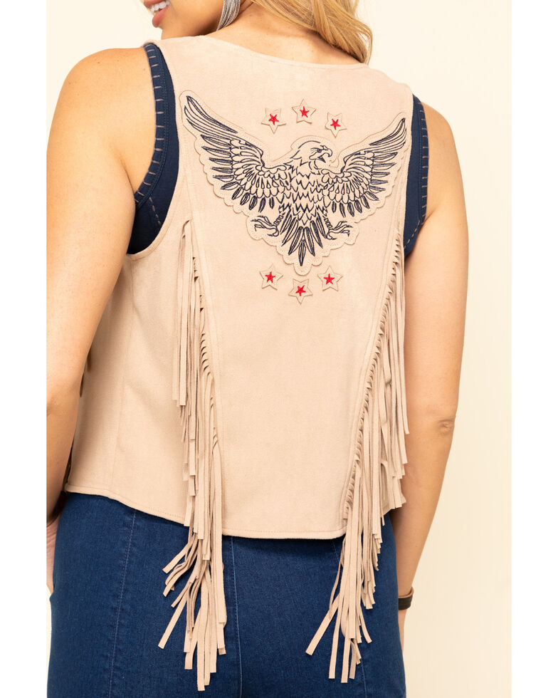 Idyllwind Women's Prideful Fringe Vest, Tan, hi-res