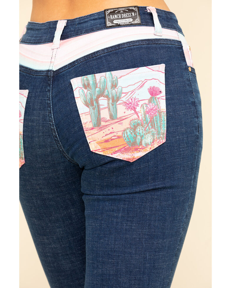 Ranch Dress'N Women's Desert Child Bootcut Jeans , Blue, hi-res