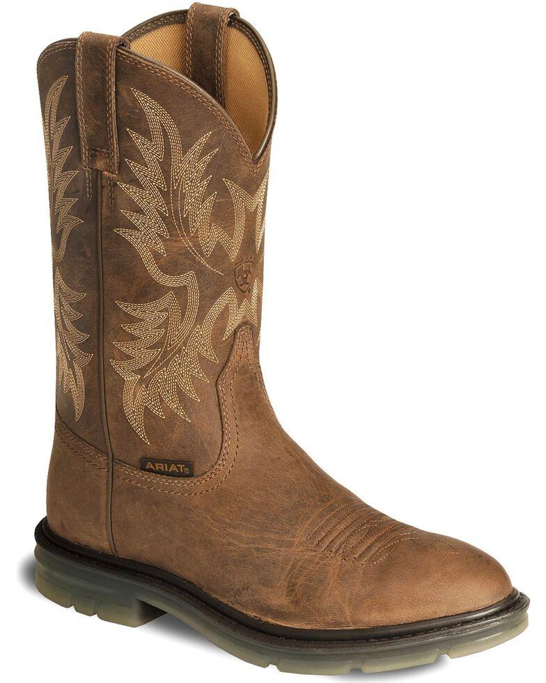 00af9899e7b Ariat Brown Maverick II Pull-On Work Boots - Soft Toe