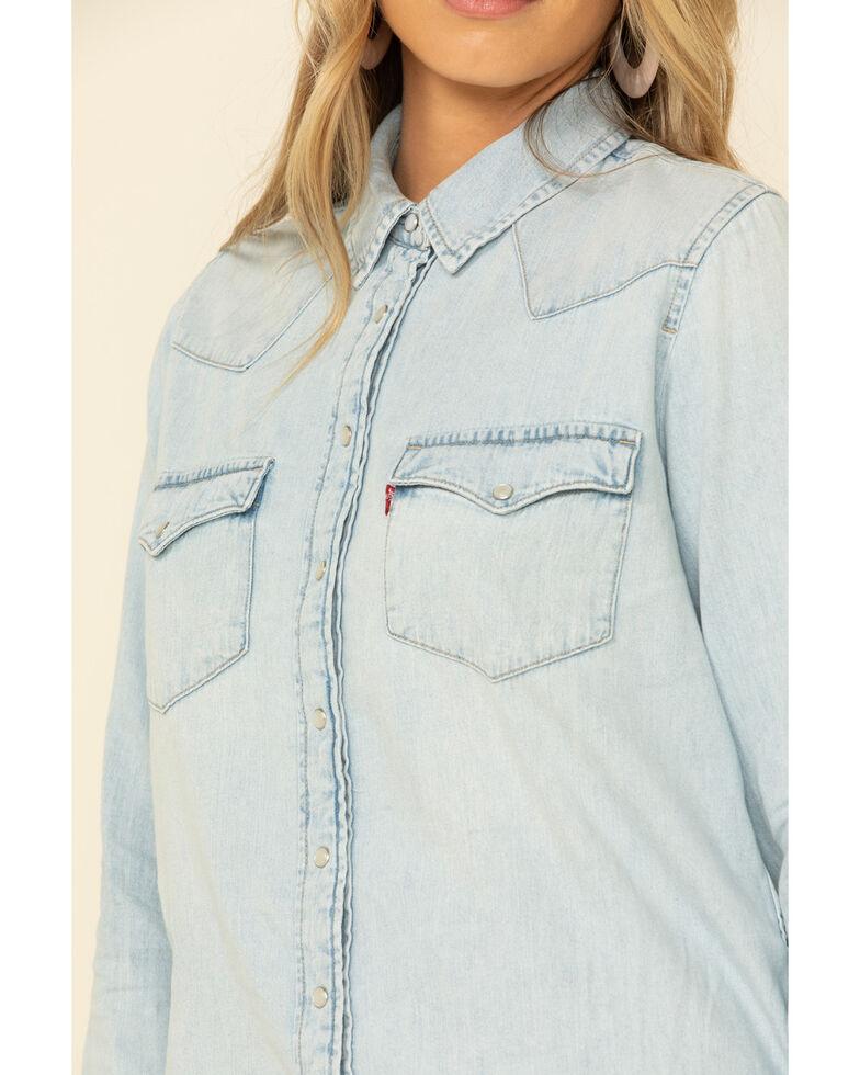 Levi's Women's Ultimate Denim Long Sleeve Western Shirt , Light Blue, hi-res