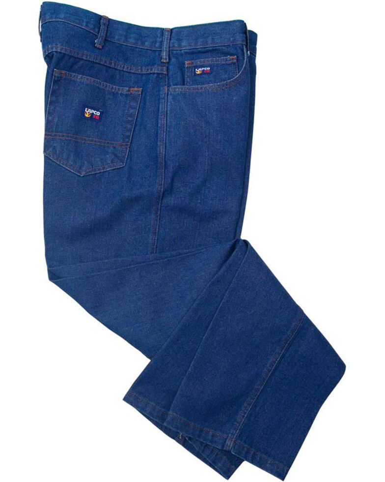 Lapco Men's Blue FR Relaxed Fit Jeans - Boot Cut, Blue, hi-res
