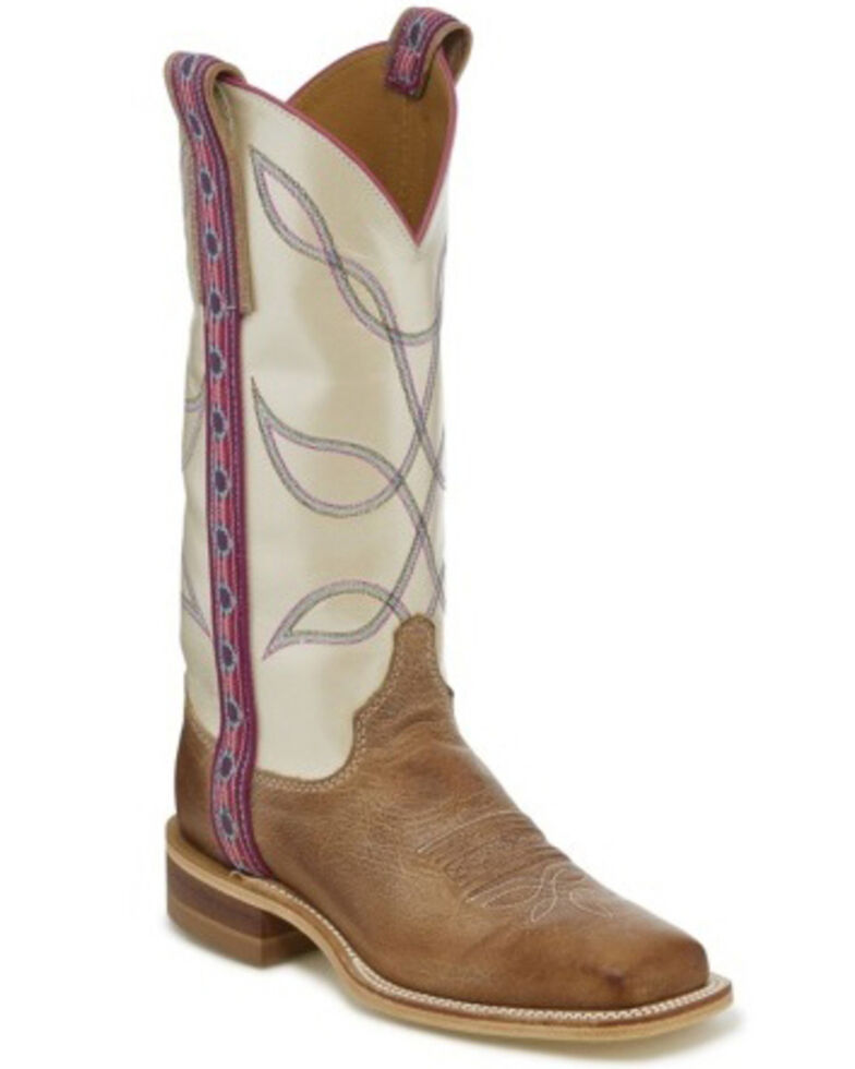 Justin Women's Aransas Florence Western Boots - Wide Square Toe, , hi-res