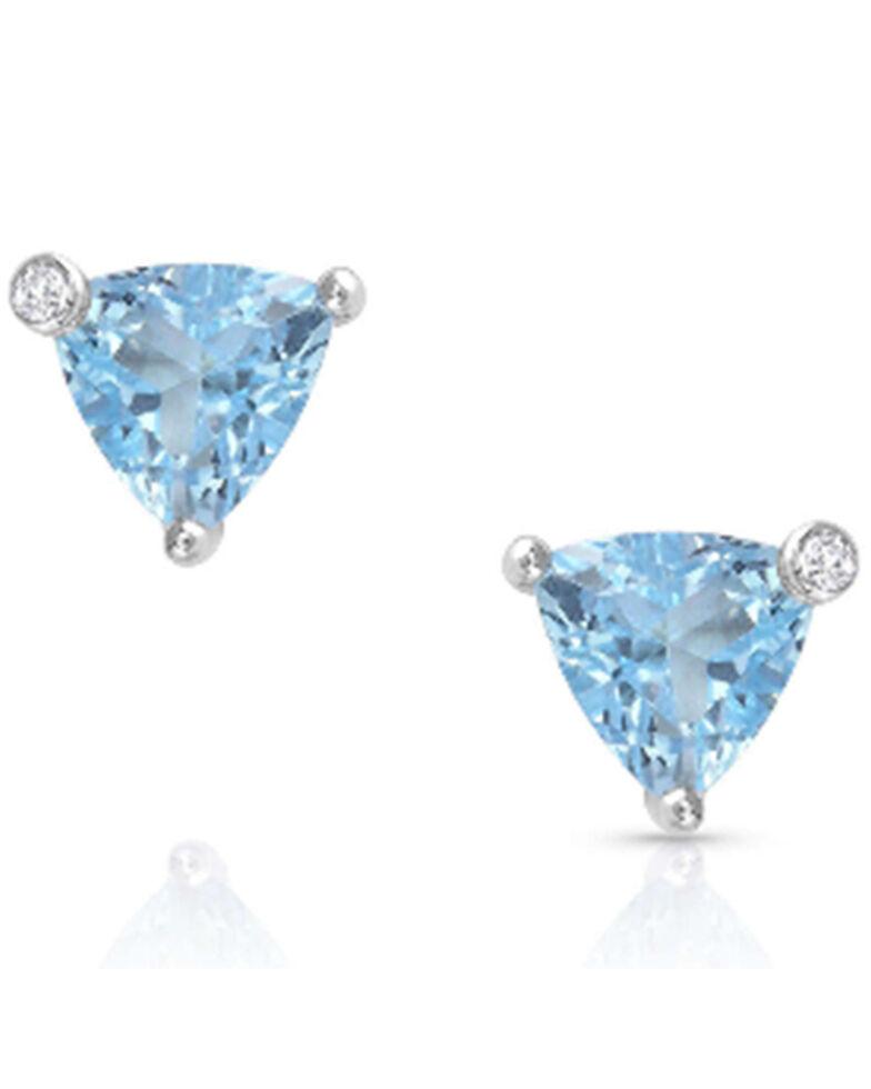 Montana Silversmiths Women's Azure Trillion Starlight Stud Earrings, Silver, hi-res